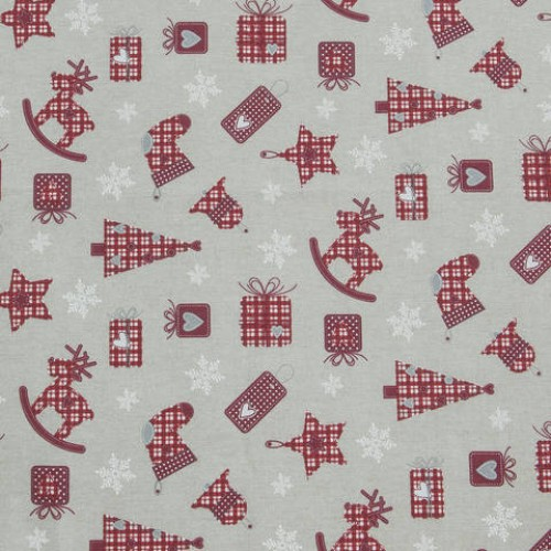 Декоративная новогодняя ткань  - 286648