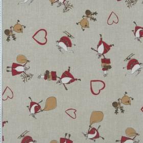 Декоративная новогодняя ткань - 288988
