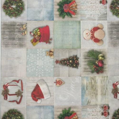 Декоративная новогодняя ткань олай - 288990