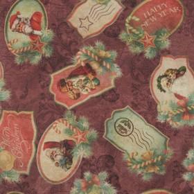 Декоративная новогодняя ткань открытки - 288992
