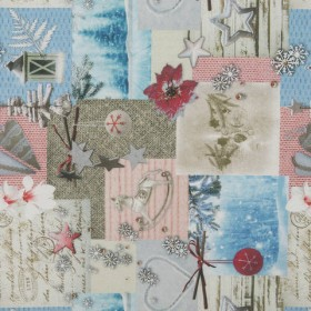 Декоративная новогодняя ткань растин - 288998