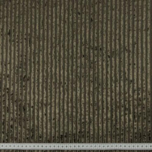 Велюр стрейч полоска хаки - 290612