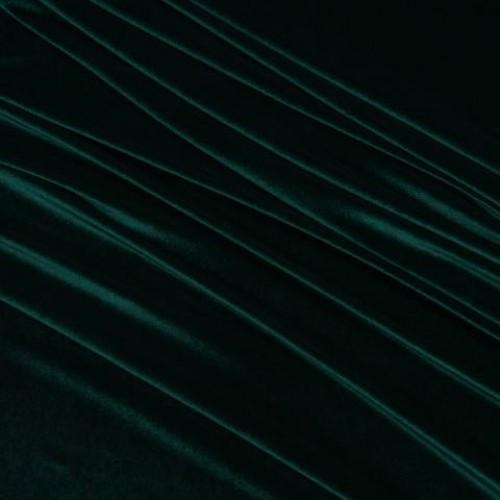Бархат стрейч темно-зелёный - 48294