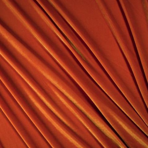 Бархат стрейч ярко-оранжевый - 49658