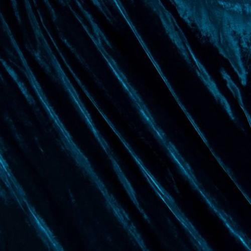 Бархат шелк морская волна - 57736