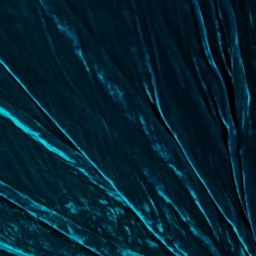 Бархат шелк темно-бирюзовый - 57738