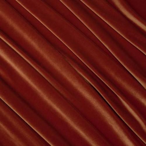 Бархат стрейч темно-оранжевый - 58470