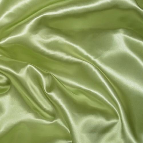 Атлас плотный оливковый - 61954